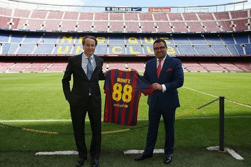 IronFX Global announces official partnership with FC Barcelona - Left hand side: Javier Faus, first vice ...
