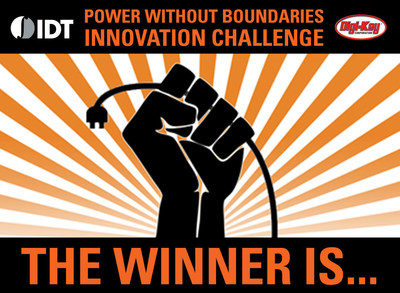 IDT and Digi-Key Announce Winners of Wireless Power Contest, with  Cordless Coffee Maker Taking 1st Place
