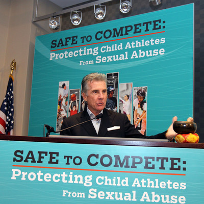 """John Walsh, National Center for Missing & Exploited Children co-founder and host of """"America's Most Wanted,"""" spoke to the attendees at Safe to Compete, held Mar. 19-20, 2013. Child sexual abusers rely upon the silence of victims and the inaction of bystanders. Walsh spoke about the need to empower victims to speak up. These concepts and other prevention policies were included in a sound practices document released by NCMEC as a result of the summit."""