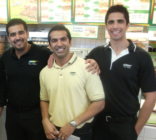A few SUBWAY(R) franchisees who started with the chain as young entrepreneurs.  (PRNewsFoto/SUBWAY Restaurants)