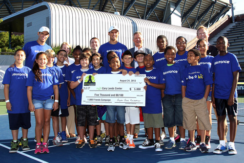 The Bryan Brothers and Esurance Partner to Make a Difference for Youth Tennis at Arthur Ashe Kids' Day.  (PRNewsFoto/Esurance)