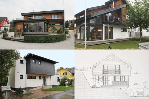 Four prefab/modular houses - three of which are already assembled as show homes - are being auctioned at starting prices of only 30% of the regular turnkey price. Credit: Karner & Dechow (PRNewsFoto/Karner & Dechow) (PRNewsFoto/Karner & Dechow)