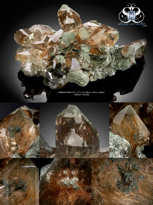 Significant Stones Announces the Acquisition of Incredibly Rare, Massive Himalayan Quartz Cluster Specimen with Golden Rutile, Chlorite, Anatase. Now Available for Purchase.
