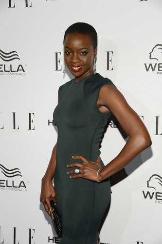 The beautiful star of The Walking Dead Danai Gurira shows off her Hearts On Fire diamonds on the Red Carpet of the ELLE Magazine Women in Television Dinner in Los Angeles on January 24, 2012.  (PRNewsFoto/Hearts On Fire)