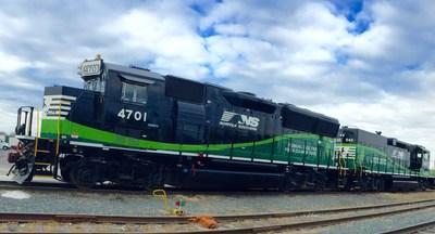 Norfolk Southern's environmentally friendly Chicago yard locomotives