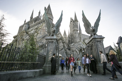 """The Wizarding World of Harry Potter"" officially opens at Universal Studios Hollywood today, April 7, 2016."