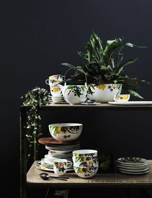 The Brillance Les Fruits du Jardin design created by the Swiss textile designer Regula Stüdli for Rosenthal (PRNewsFoto/Rosenthal GmbH)