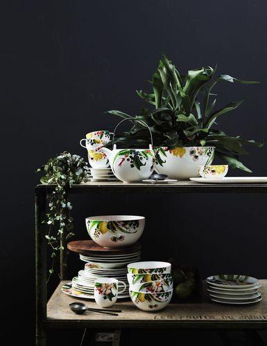 The Brillance Les Fruits du Jardin design created by the Swiss textile designer Regula Stüdli for Rosenthal ...