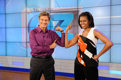 Michelle Obama will appear on The Dr. Oz Show February 28. The Dr. Oz Show first hosted Michelle Obama as a guest in September 2012. (PRNewsFoto/The Dr. Oz Show) (PRNewsFoto/THE DR. OZ SHOW)