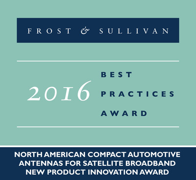 Kymeta Corporation Receives 2016 North American Compact Automotive Antennas for Satellite Broadband New Product Innovation Award