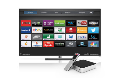 VIZIO's New Co-Star Stream Player Delivers VIZIO Internet Apps Plus, Next Generation Smart TV Experience with Live TV Overlay, Advanced App Browsing and Seamless Second Screen Interactivity for a Smarter Smart TV Experience. (PRNewsFoto/VIZIO, Inc.) (PRNewsFoto/VIZIO, INC.)