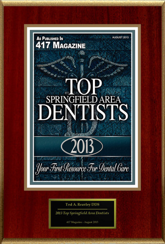 "Ted A. Reavley Selected For ""2013 Top Springfield Area Dentists"".  (PRNewsFoto/American Registry)"