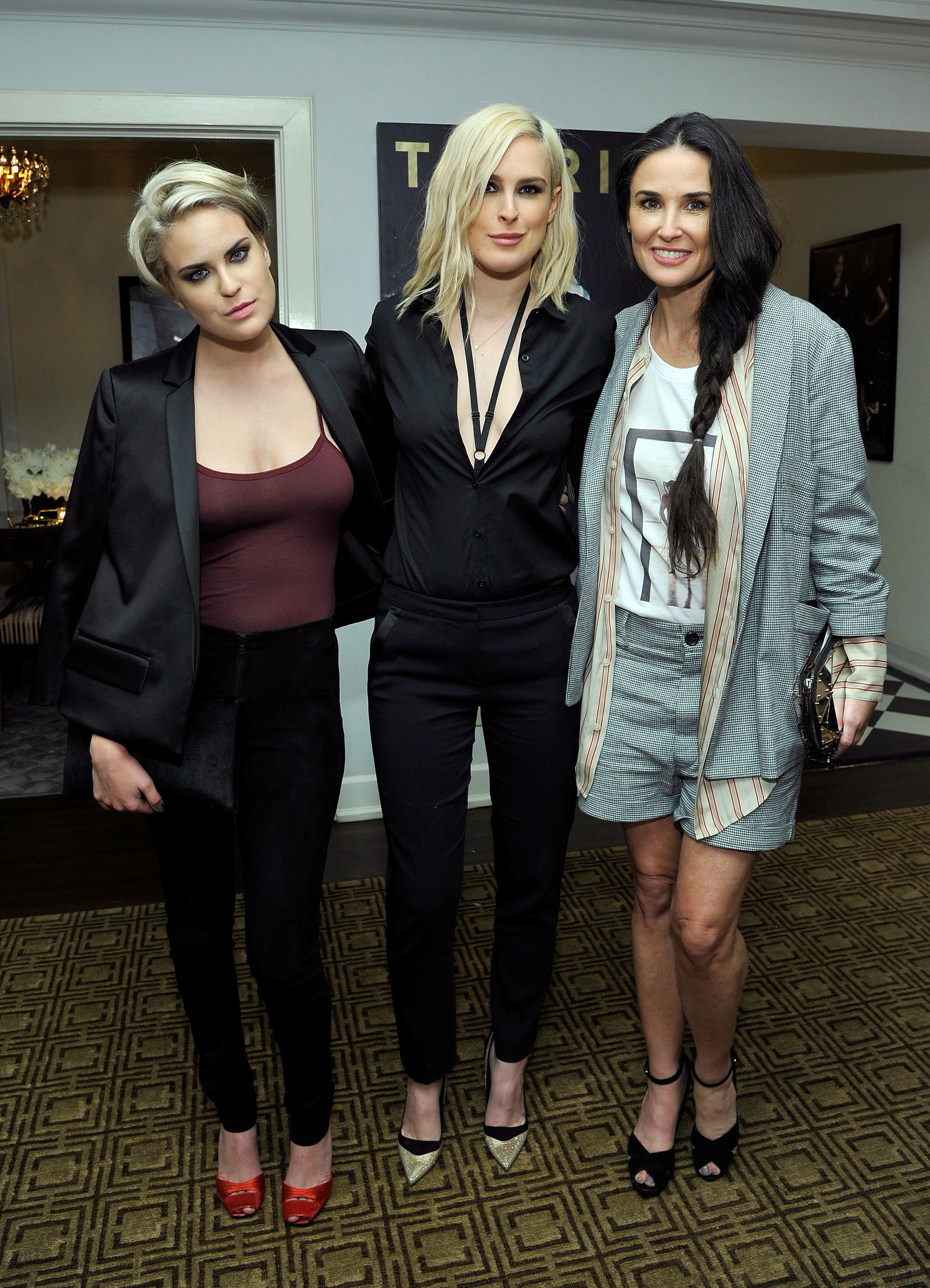 Tullulah Willis, Rumer Willis And Demi Moore Attend Fashion Brand TORRID Event Hosted By Tracy Paul & Company