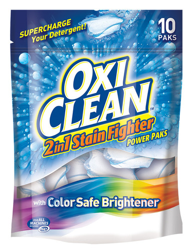 OxiClean(TM) 2in1 Stain Fighter Power Paks with Color Safe Brightener.  (PRNewsFoto/Church & Dwight Co., Inc.)