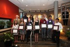 ETS President and CEO Walt MacDonald and the 2015 ECAF scholarship award recipients.