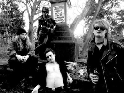 The Cavemen (NZ)  Jake Caveman, Paul Caveman, Jack Caveman, Nick Caveman (PRNewsFoto/Dirty Water Records)