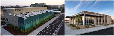 RAD's patented modular system has been used by some of the world's most prestigious cancer centers shown above is UCSD La Jolla (left) and Banner MD Anderson Sun City AZ