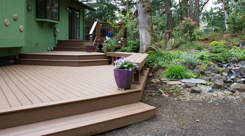 tnt builders of albany oregon creates a great escape with the latest timbertech decking. Black Bedroom Furniture Sets. Home Design Ideas