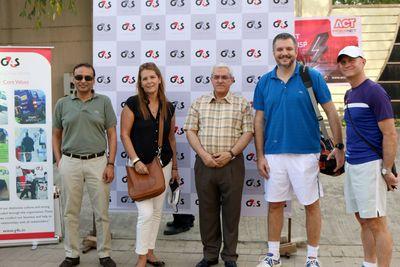 In support of 'Tennis4Toilets' L to R- Ashok Bajpai, MD, G4S India; Lorena Escobar, Wife of Ambassador of Chile; Hassan Mahmoud Mohammad Al Jawarneh, Ambassador of Jordan; Vladimir Maric, Ambassador of Serbia; Georges de La Roche Du Ronzet Plihal, Ambassador of Gautemala