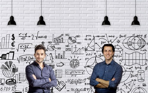 From left to right: Deniz Erkan co-founder of Jawabkom and Raed Malhas co-founder and CEO of Jawabkom. ...