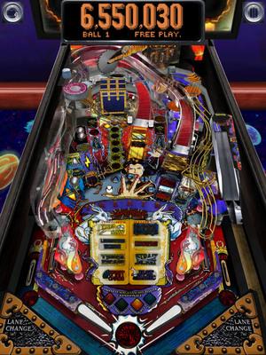 Screenshot of The Pinball Arcade on an Apple iPad.