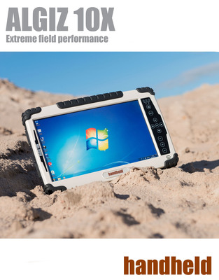 Handheld Launches the ALGIZ 10X, a 10-inch Ultra-Rugged Tablet Computer Built for Outdoor Use.  (PRNewsFoto/Handheld Group)