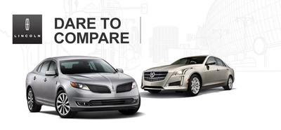 2014 Lincoln MKS vs. 2014 Cadillac CTS.  (PRNewsFoto/Beach Lincoln)
