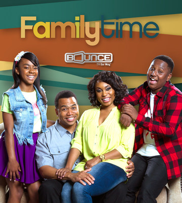 New episodes of the hit sitcom Family Time premiere Tuesday nights at 9:00 pm (ET) on Bounce TV, the nation's first-and-only over-the-air and free television network for African Americans. For more information, visit BounceTV.com