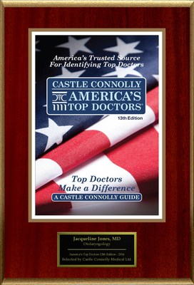 Dr. Jacqueline Jones, Otolaryngology, is named one of America's Top Doctors(R)