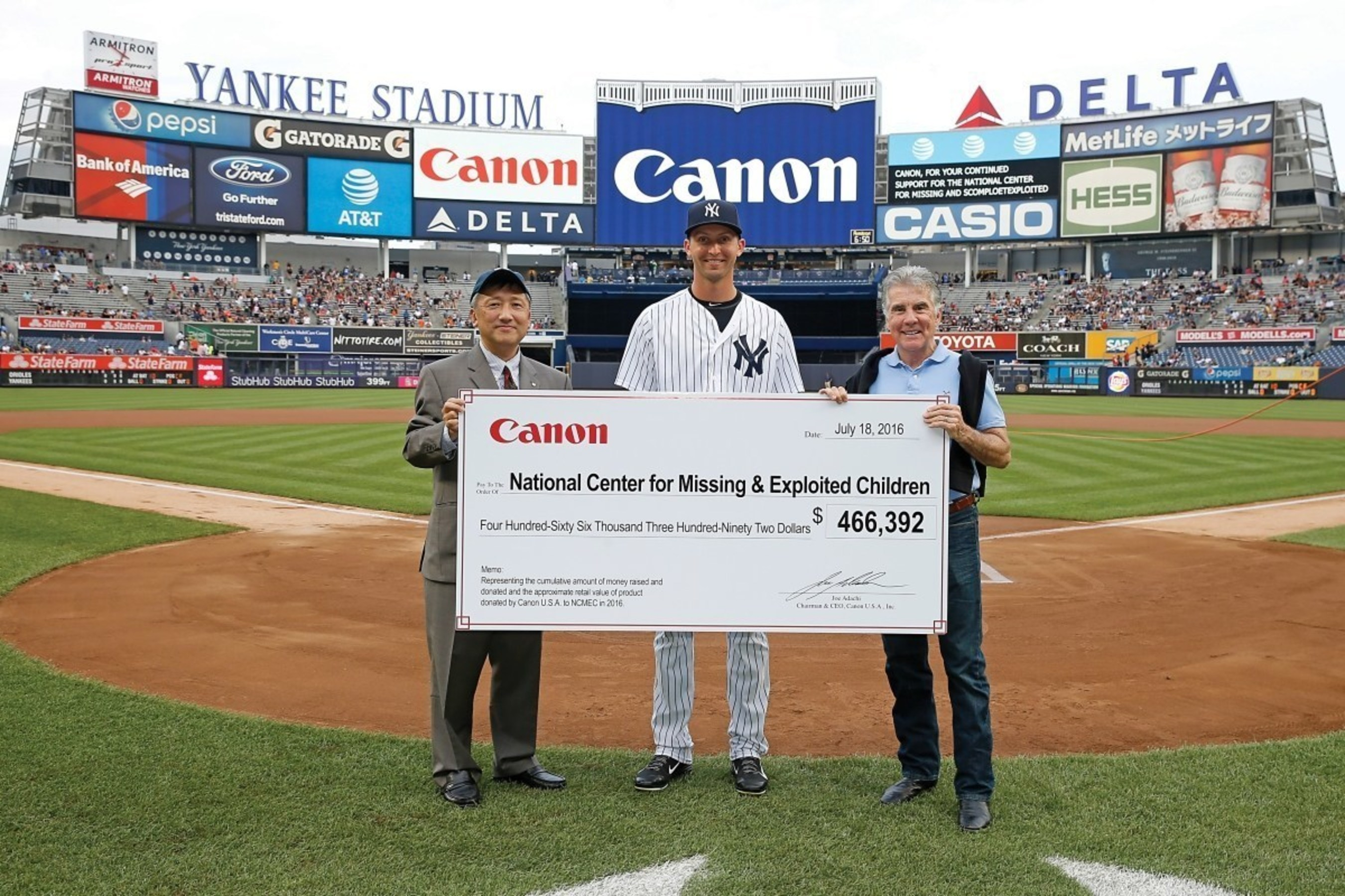 Photo Credit: New York Yankees. All Rights Reserved. From left to right: Toyo Kuwamura, Chasen Shreve and John Walsh
