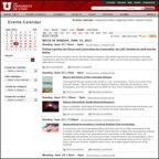 University of Utah events calendar powered by Trumba.  (PRNewsFoto/Trumba Corporation)