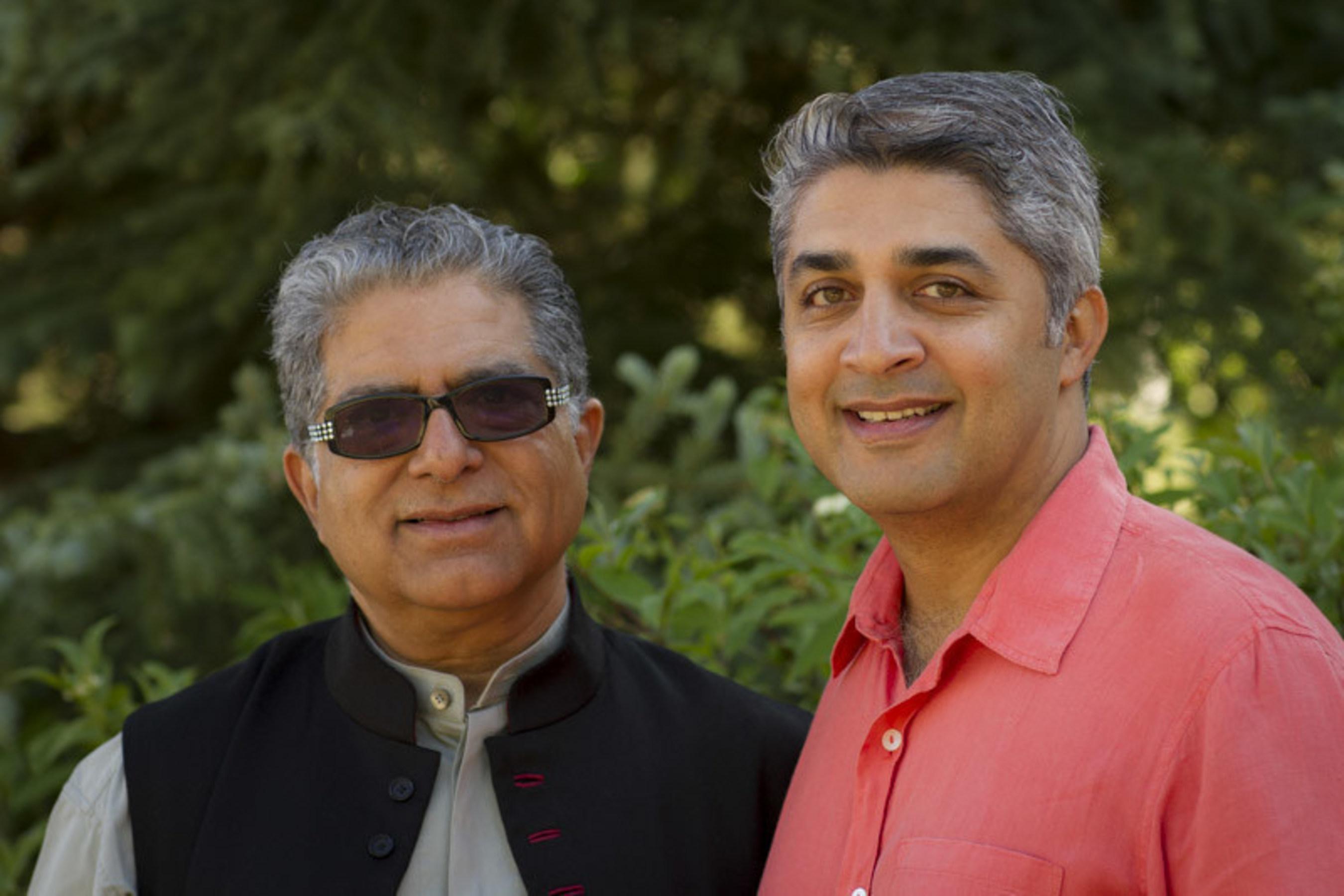 Deepak Chopra, M.D., world-renowned physician, best selling author & Poonacha Machaiah, entrepreneur and technology expert.