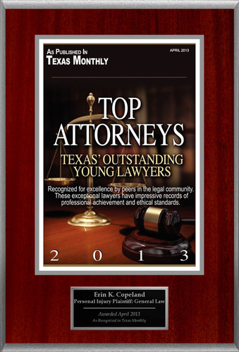 "Erin K. Copeland Selected For ""Top Attorneys - Texas' Outstanding Young Lawyers"".  (PRNewsFoto/American Registry)"