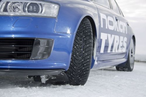 New Nokian Hakkapeliitta 8 winter tyre. The new world record for fastest car on ice was achieved by Nokian Tyres, when test driver Janne Laitinen drove at a speed of 335.713 kilometres per hour (208.602 mph) on the ice of the Gulf of Bothnia on 9 March. Grip and speed like never before were ensured by the new spearhead product for the world's leading manufacturer of winter tyres – the Nokian Hakkapeliitta 8 studded tyre. More: www.nokiantyres.com/Fastest-On-Ice
