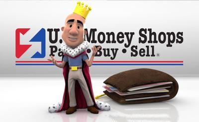 U.S. Money Shops' Gift Card King.(PRNewsFoto/U.S. Money Shops) (PRNewsFoto/U.S. MONEY SHOPS)