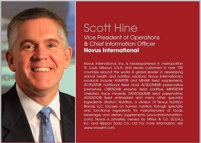 Novus International's Scott Hine Recognized Amongst Top 100 STEM Leaders
