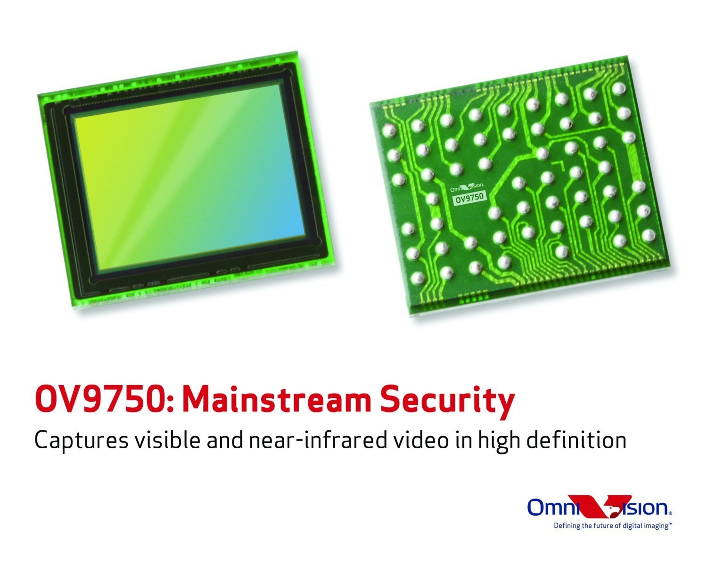 OV9750 captures visible and near-infrared video in HD for mainstream security systems.