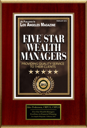 "Alec Pedersen, CRPC(R), CSPG(R) Selected For ""Five Star Wealth Managers"". (PRNewsFoto/American Registry)"
