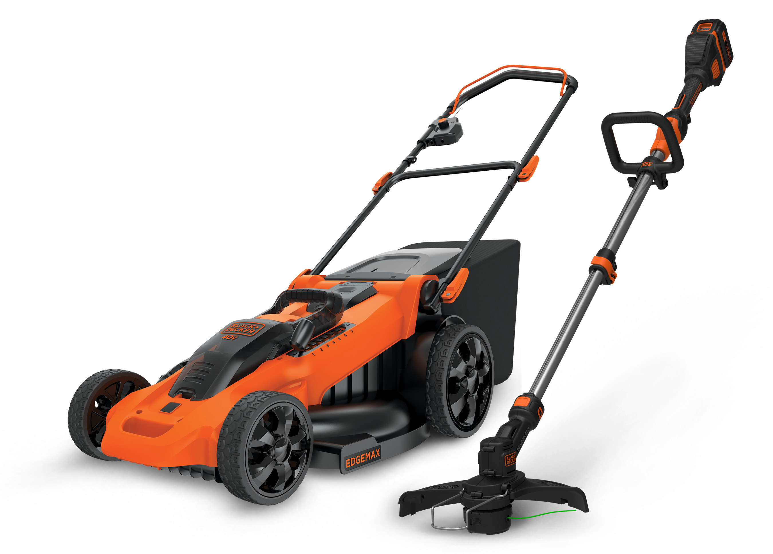 BLACK + DECKER announces additions to their collection of 40V MAX* outdoor tools with the 40V MAX* Brushless Trimmer & Edger and the 40V MAX* 20 Inch & 16 Inch Lawnmowers with AutoSense(TM) Technology. These BLACK DECKER tools are part of a larger 40V MAX* family of outdoor equipment that includes hedge trimmers, sweepers, and mowers.