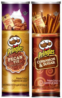 Pringles Pecan Pie and Cinnamon & Sugar Holiday Flavors.  (PRNewsFoto/Kellogg Company)