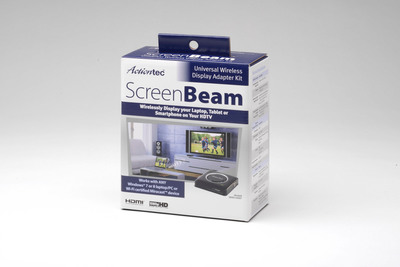 ScreenBeam Wi-Fi CERTIFIED Miracast(TM) HD Kit for Wireless Display.  (PRNewsFoto/Actiontec Electronics, Inc.)