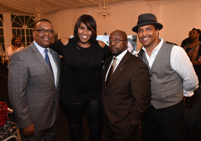 Zafar Brooks (Director Diversity & Inclusion at Hyundai Motor America), Kelly Price, Clifford Franklin (Fuse Advertising), and James Andrews (True Story)