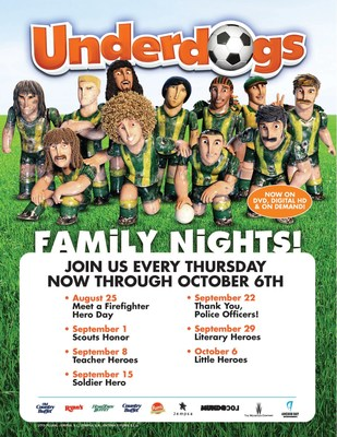 Ovation Brands(R) and Furr's Fresh Buffet(R) present Underdogs Family Night from August 25th through October 6th.