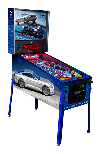 """Stern Pinball Unveils """"Top Secret"""" Images of the 50-Years-of-Mustang Limited Edition: The """"50 Years"""" LE joins Stern's Boss Mustang Premium and Mustang Pro models to complete the Mustang Pinball line.  (PRNewsFoto/Stern Pinball, Inc.)"""