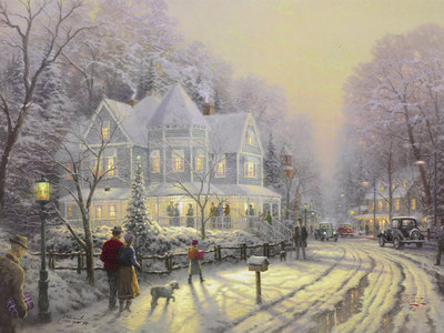Holiday Gathering (1998), Thomas Kinkade (Park West Gallery)