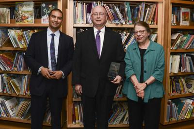 2015 Indiana Authors Award winners: Adrian Matejka, Clifford Garstang and Marianne Boruch.