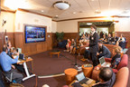 Students at Hillsdale College engage with nationally syndicated radio host Mike Gallagher during the Republican Presidential Debate on Sept. 16.