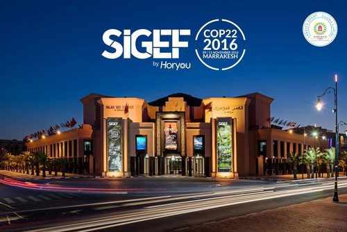 Horyou Announces SIGEF 2016, which will take place at Palais des Congrès Marrakesh, in Morocco, from 9 to 11 November, 2016 during the UN Climate Change Conference (COP22) (PRNewsFoto/Horyou)