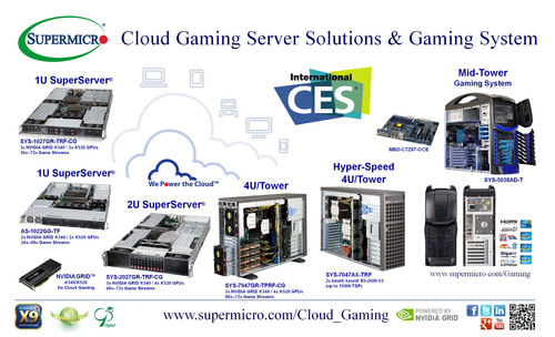 Supermicro(R) Exhibits End-to-End Cloud Gaming Solutions at CES. (PRNewsFoto/Super Micro Computer, Inc.) (PRNewsFoto/SUPER MICRO COMPUTER, INC.)