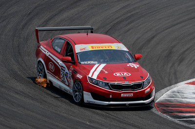 Kia Racing takes second at Pirelli World Challenge race at Circuit of the Americas.  (PRNewsFoto/Kia Motors America)